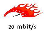 20 Mbit – 1 maand